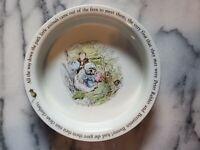 Beatrix Potter collectible  peter Rabbit fans design bowl Mrs Tiggy Winkle
