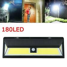 180 LED Solar Powered Light Motion Sensor Security Lights Garden Outdoor Wall UK