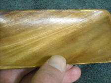 """Wood Wooden Tray Made in Philippines 2 1/2"""" x 5 1/4"""" Colorful Gold Stripes"""