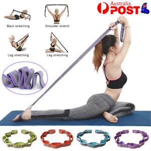9 Segment Yoga Stretch Strap Training Belt Leg Body Fitness Exercise Gym Elastic