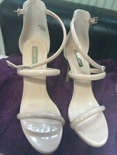 Primark Nude High Heel Strappy Patent Shoes Size 7 New