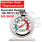 Refrigerator Freezer Thermometer Fridge DIAL Type Stainless Steel Hang Stand photo