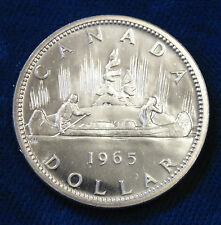 1965 CANADA Canadian .800 PL Proof Like silver dollar great make a birthday gift
