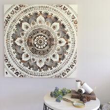 80cm Square Timber Mandala Wall Panel/Wood/Ready To Hang Art/Bronze Metallic