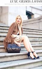 ❤️BRAHMIN FRAME SATCHEL ESPRESSO BROWN CROC EMB LEATHER STRUCTURED DOCTORS BAG❤️