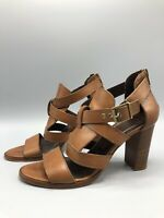 Jigsaw High Heel Sandals Strappy Leather Shoes Size 6 UK 39 Eur Brown