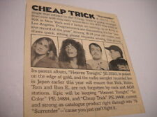 Cheap Trick 1978 music biz detailed promo trade article/pic for Surrender