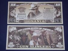 UNC.BONANZA NOVELTY NOTE ONLY .25 SHIPPING FREE SHIP + FREE NOTES!