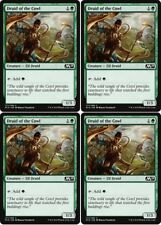 4x DRUID OF THE COWL M19 Core Set 2019 MTG Green Creature — Elf Druid Com
