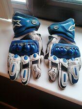 Motorbike Gloves 🧤 Alpinestars GP PRO R2 White/Blue Leather Motorbike Race