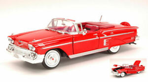 Model Car American Scale 1:24 Chevrolet Impala 1958 Red diecast vehicles