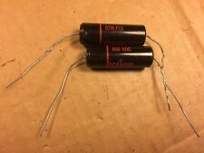 2 NOS Sprague Black Beauty .15 uf 600v Capacitors Vintage Amp Tone Caps TESTED
