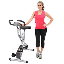 NEW Exerpeutic Folding Magnetic Upright Exercise Bike with Pulse Monitor Fitness