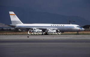 Spantax Convair CV-990 Coronado EC-BJD, 9.80, Colour Slide, Aviation Aircraft