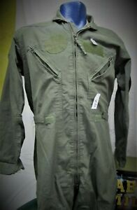 MILITARY ISSUE COVERALLS OD TAN NOMEX FLIGHT SUIT COVERALLS MENS USED MENS