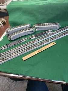 "HO BACHMANN EZ TRACK LOT OF 9/9'' 2/36"" Straight 12 Curves (HO99415)"