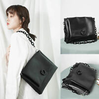 2 Straps Small Faux Leather Shoulder Bag Crossbody Chain Flap Purse Messenger