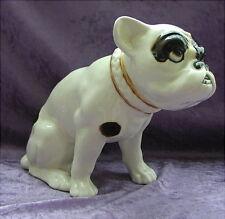 Alte Keramikfigur Hund Französische Bulldogge 20 er Jahre Czechoslowakia