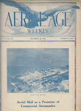 1920 PUBLICATION - AERIAL AGE WEEKLY Vol 12 No12 - AIRSCAPE OF SING SING PRISON