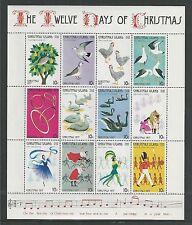 CHRISTMAS ISLAND  # 86 MNH THE TWELVE DAYS OF CHRISTMAS Miniature Sheet of 12
