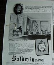 1939 Antique Baldwin Piano Lizst Pupil Student Ad