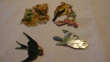 4  x Vintage Scraps   Birds / Swallow
