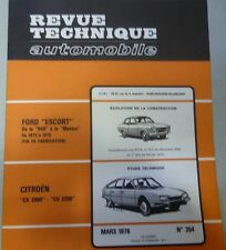 NEUF Revue technique CITROEN CX 2000 2200 essence  RTA 354 1976 +  ESCORT MEXICO