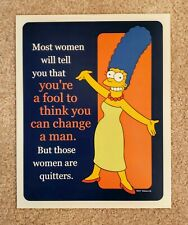 The Simpsons, Marg Simpson, Change a Man, Small Poster Print 8 X 10 Inches