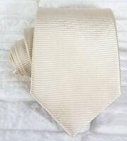 Luxus Krawatte seide beige  Morgana marke hochzeit / business  UVP € 39