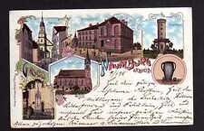 108496 AK Naumburg a. Quais Litho 1898 Aussichtsturm Kirche St. Josephs Stift