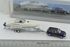 Wiking VW Touareg SUV with Power Boat Trailer 1:87 - Scale HO