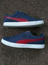 Puma X Undefeated Clyde Men's 8.5 Leather Textile Shoes Red White Blue