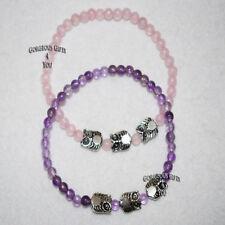 "Silver Plated Amethyst Fine Bracelets 7 - 7.49"" Length"