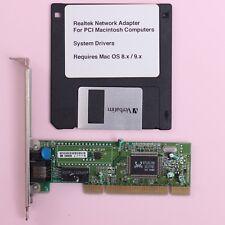 Apple Macintosh PCI 10/100 RJ45 Network Ethernet Card 100Mbit For Mac OS 8.x 9.x