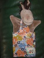 "Doudou Moulin Roty  marionnette Barnabé l'âne ""La grande famille"""
