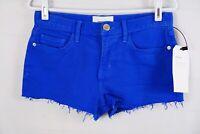 NWT Current/Elliott The Boyfriend Cut Shorts Nautical Blue Women's Size 25 $178