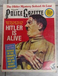 1977 National Police Gazette * Magazine - Hitler Is Alive !! Pulp ~