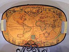 Vintage STUNNING Old World Map Decorative Tray.