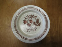 "Churchill Homespun Stonecast WILD STRAWBERRY Dinner Plate 10 1/4""  6 available"