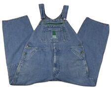 Vtg Liberty Mens Bib Overalls  Light Blue Carpenter Pockets Zip Fly Size 38 x 26