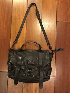 Proenza Schouler Black Leather PS1 Messenger Bag