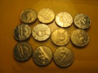 Set of 11 Canada 5 Cent Coins 1951 To 1960