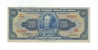200 Cruzeiros Brasilien 1955 C038 / P.154a - Brazil Banknote