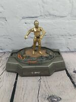 "Star Wars Titanium Series Die-Cast Figure of C3P0 5"" by Hasbro. Missing Dome."