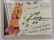 2007 Bench Warmer School Girls Authentic Autograph SilverFoil Kirsty Lingman 4/8