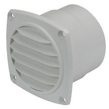 """NEW Bilge Blower Air Vent Outlet 75mm (3"""") Louvre Air Vent Exhaust Outlet White"""