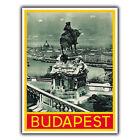 BUDAPEST HUNGARY Vintage Retro Viaje Anuncio Letrero Metálico De Pared Placa