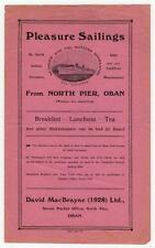MacBrayne's Steamers brochure for Pleasure Sailings from Oban, 1931 (C29427)