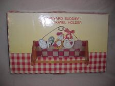 BARNYARD BUDDIES - TOWEL HOLDER - NEW BOXED - MADE IN CHINA