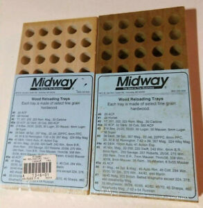 Midway Vintage #6 Reloading Wooden Block Trays LOT Of 2 (NEW- Wrapped!)